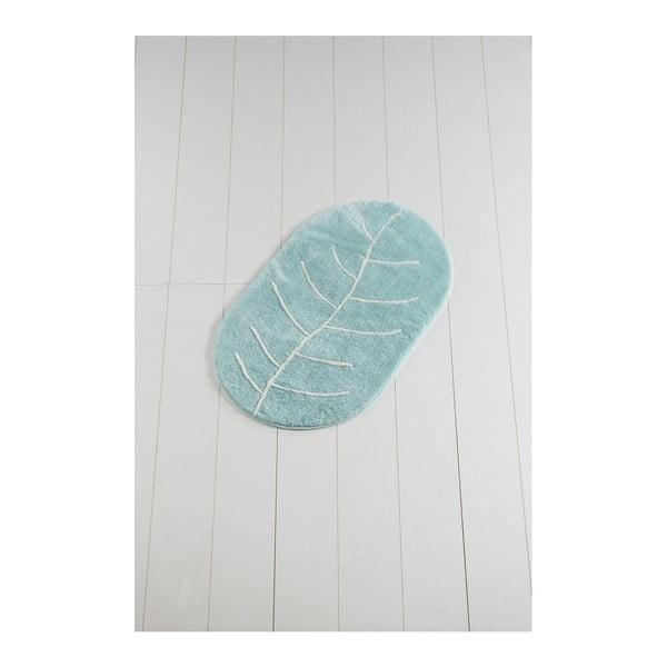 Niebieski dywanik łazienkowy Yaprak Rock, 60x100 cm