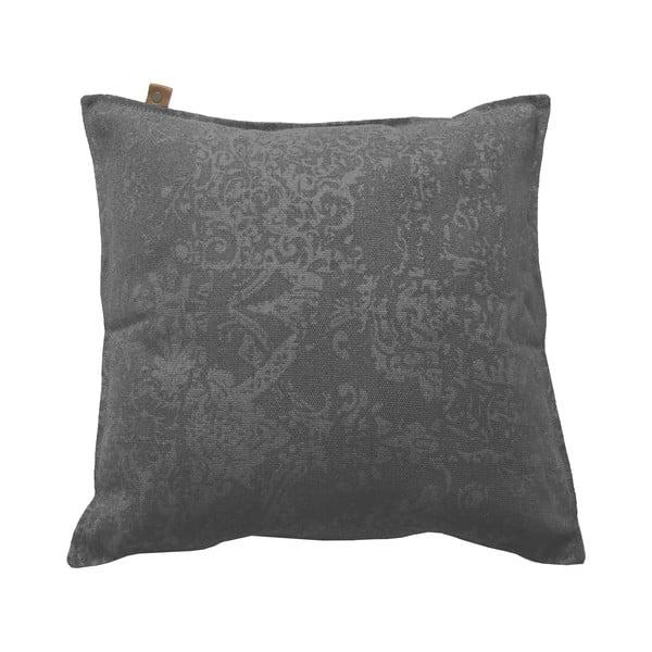 Antracitový polštář OVERSEAS Vintage,45x45cm