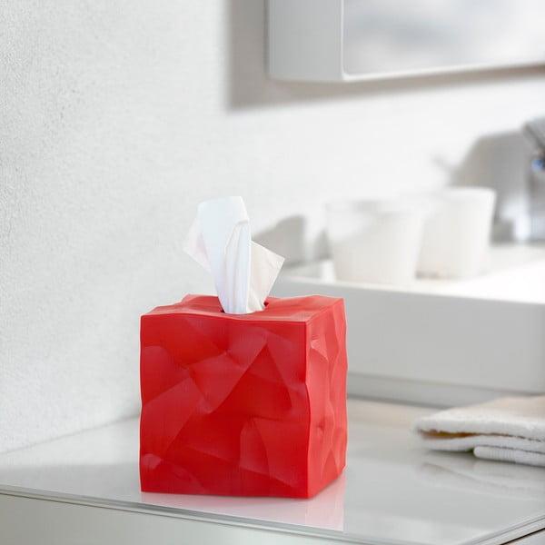 Wipy Cube piros zsebkendőtartó doboz - Essey