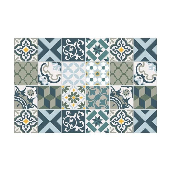 Set 24 autocolante perete Ambiance Azulejos Rony, 10 x 10 cm