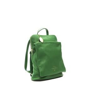Zelený kožený dámský batoh f.e.v. by Francesca E. Versace Ramona