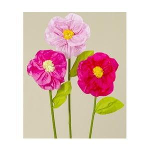 Sada 3 dekorativních papírových květin Boltze Rosalie