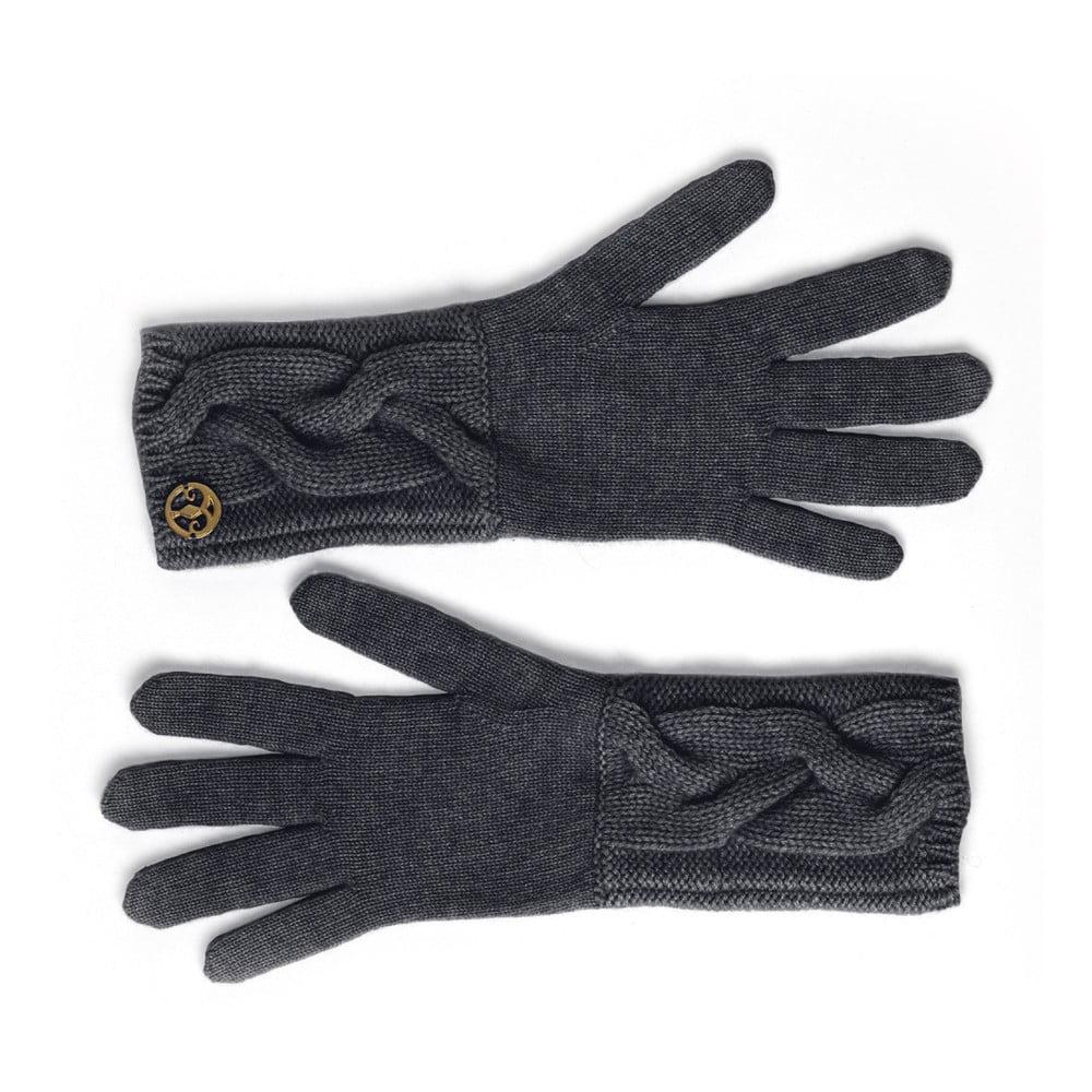 Černé kašmírové rukavice Bel cashmere Lela  15e085f6c5