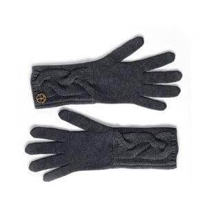 Černé kašmírové rukavice Bel cashmere Lela