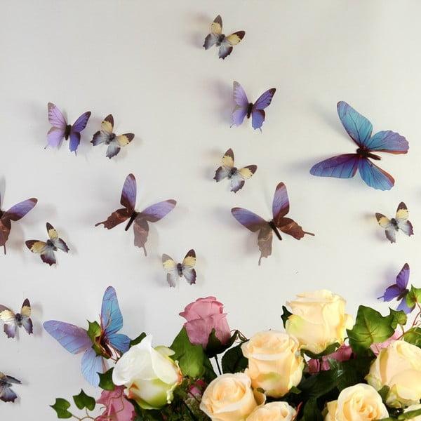 Trojrozměrné samolepky motýlků WALPLUS Streak Butterfly