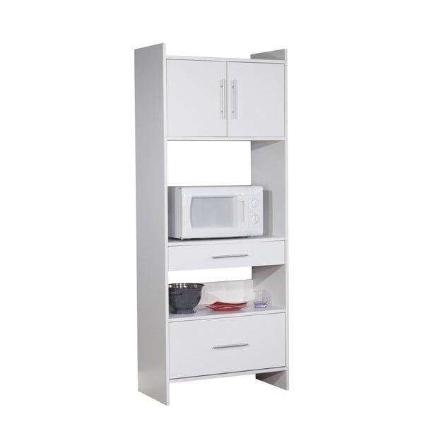 Bílý kuchyňský úložný systém s policemi Symbiosis Léon
