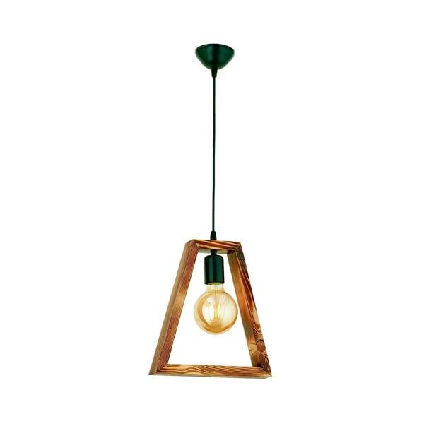 Lampa wisząca z drewna grabu Geometrik Triangle