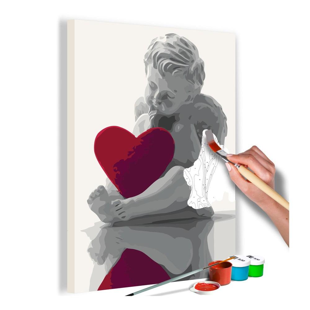 DIY set na tvorbu vlastního obrazu na plátně Artgeist Heart Angel, 40x60 cm