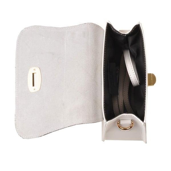 Kožená kabelka Flaux, bílá