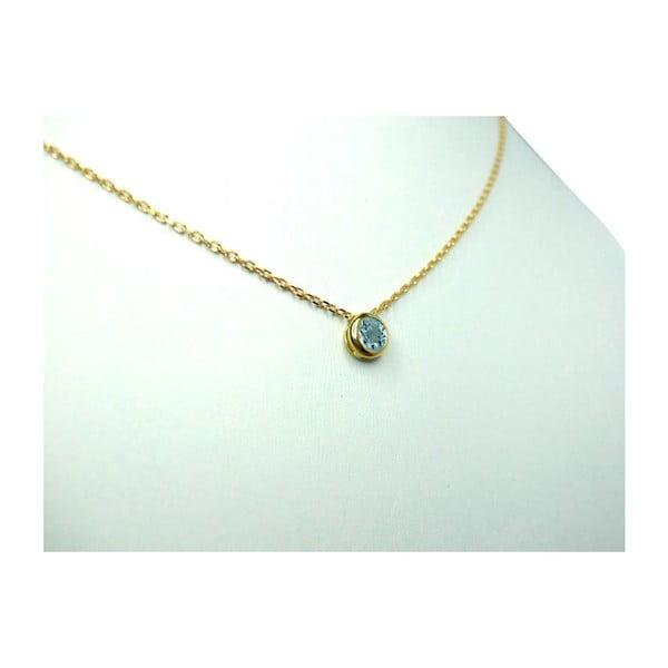 Náhrdelník s akvamarínem, zlatý