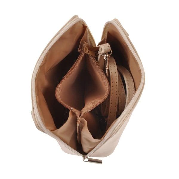 Béžová kožená kabelka Florence Bags Vaire