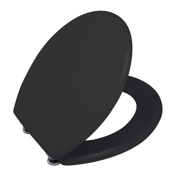 Matně černé WC sedátko Wenko Prima, 41 x 38 cm