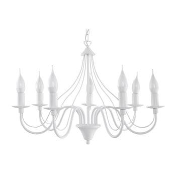 Lustră Nice Lamps Floriano 7, alb de la Nice Lamps