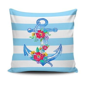 Pernă cu adaos de bumbac Cushion Love Navy Anchor, 45 x 45 cm de la Cushion Love