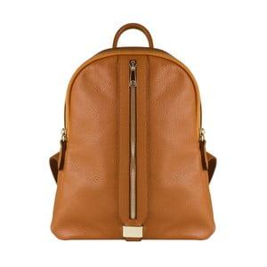 Hnědý kožený batoh Maison Bag Lisa