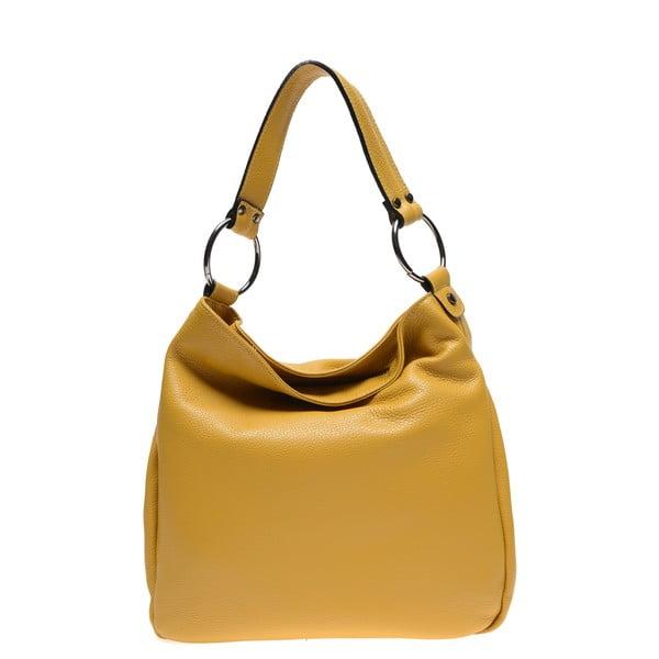 Žltá kožená kabelka Renata Corsi
