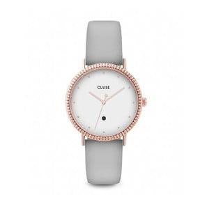 Dámské hodinky s šedým koženým řemínkem Cluse Le Couronnement