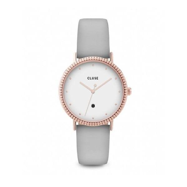 Dámske hodinky so sivým koženým remienkom Cluse Le Couronnement