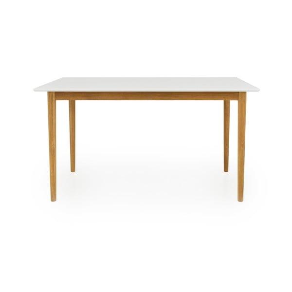 Bílý jídelní stůl Tenzo Svea, 80x140cm