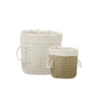Sada 2 ks dekorativních košů Linen Couture Simple Squares