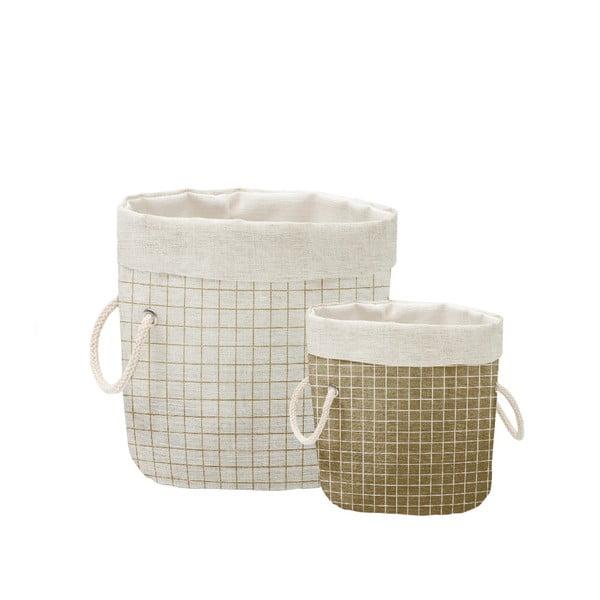 Simply Squares 2 db dekorációs kosár - Linen Couture