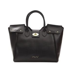 Černá kožená kabelka Alviero Martini Pesenta