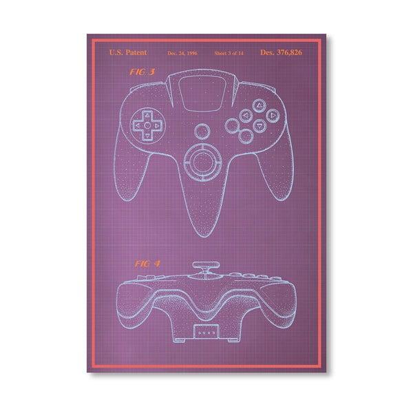 Plakát Joystick, 30x42 cm