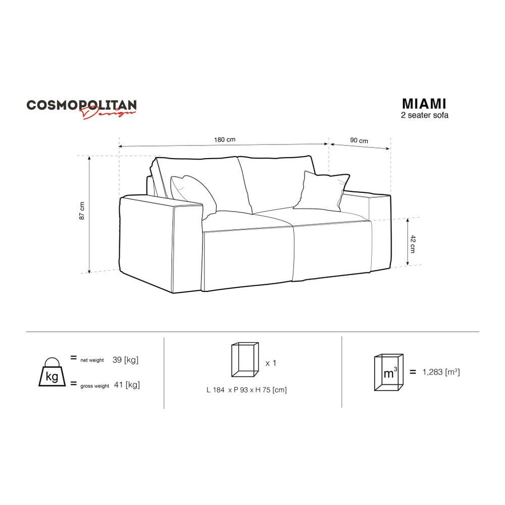 Produktové foto Žlutá dvoumístná pohovka Cosmopolitan Design Miami