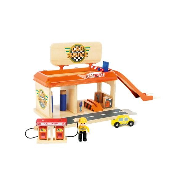Detská drevená čerpacia stanica Legler Petrol Station