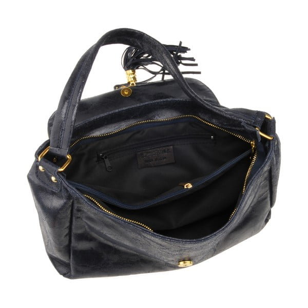 Kožená kabelka Diadema, tmavě modrá