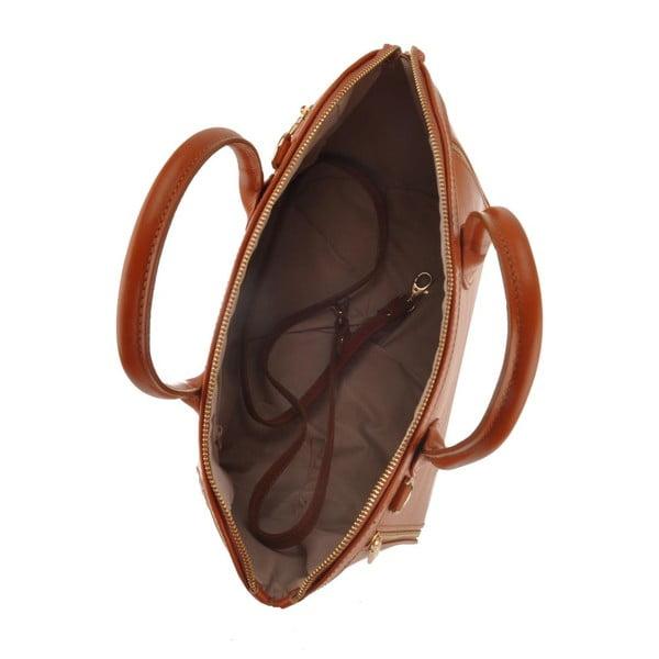 Kožená kabelka Sadira, hnědá