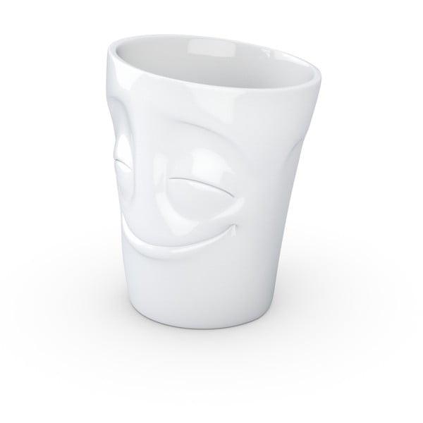 Cană cu toartă din porțelan 58products, 350 ml, alb