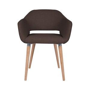 Hnědá jídelní židle Cosmopolitan Design Napoli