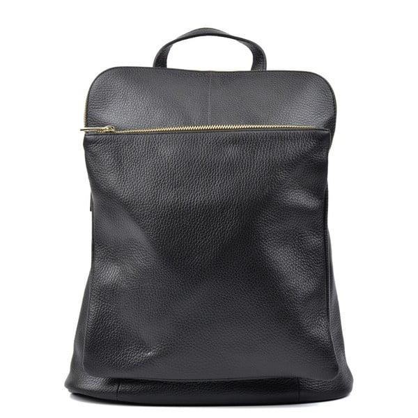 Čierny kožený batoh Isabella Rhea Hurto