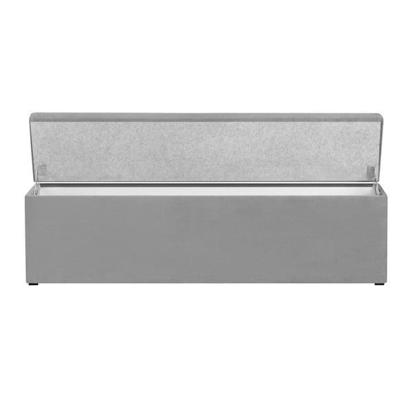 Světle šedý otoman s úložným prostorem Windsor & Co Sofas Astro, 200 x 47 cm