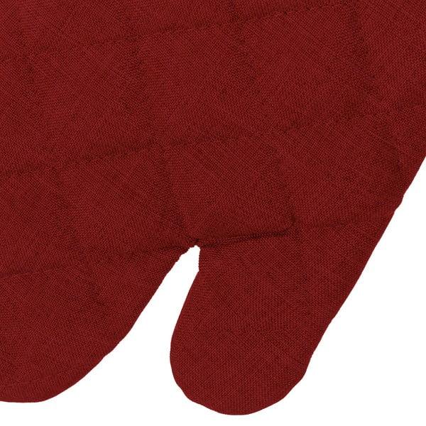 Set mănușă și șervet termic Unimasa, roșu închis