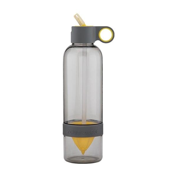 Citruszinger Sport, lahev na vodu a ovoce, šedá