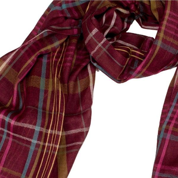 Šátek s příměsí hedvábí Shirin Sehan Jamie Maroon