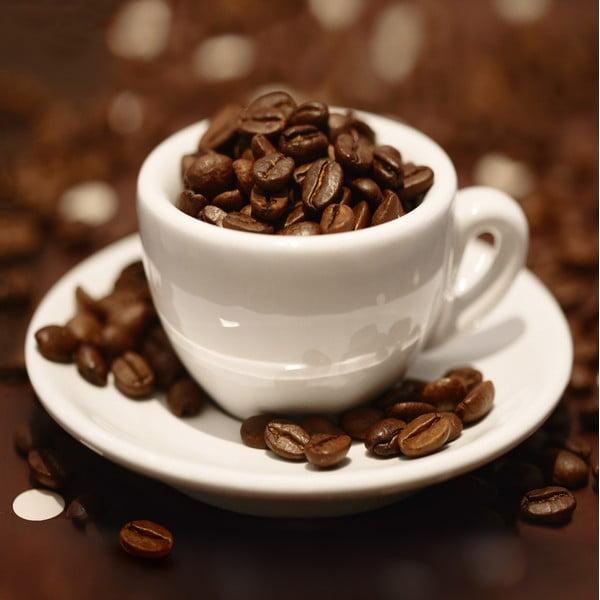 Skleněný obraz Cup of Beans, 30x30 cm