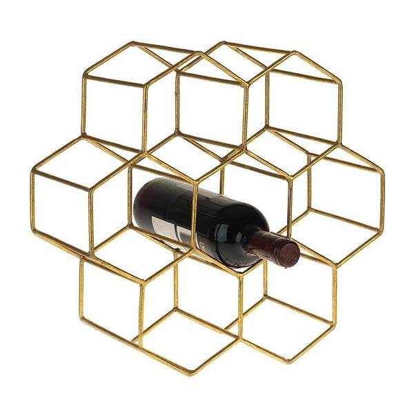 Stojan na víno Metal Gold