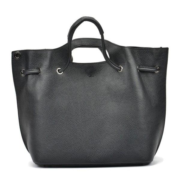 Geantă din piele Mangotti Bags Laura, negru
