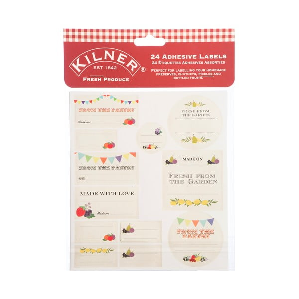 Set 24 etichete Kilner Fresh