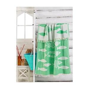 Zelený ručník Balik, 180 x 100 cm