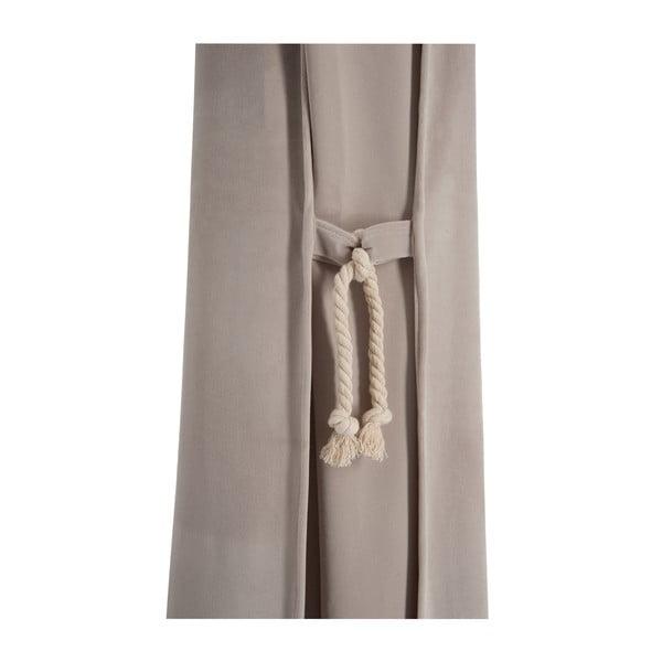 Béžový sametový závěs Velvet, 135x270 cm