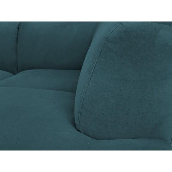 Tyrkysová rohová pohovka Windsor & Co Sofas Orion, pravý roh