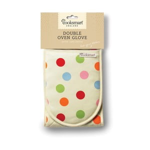 Dvojitá kuchyňská rukavice z bavlny Cooksmart England Spots