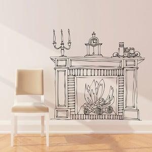 Samolepka Fireplace, 110x114 cm
