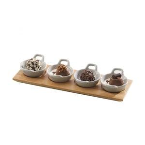 Servírovací misky s podnosem Mini Casseroles