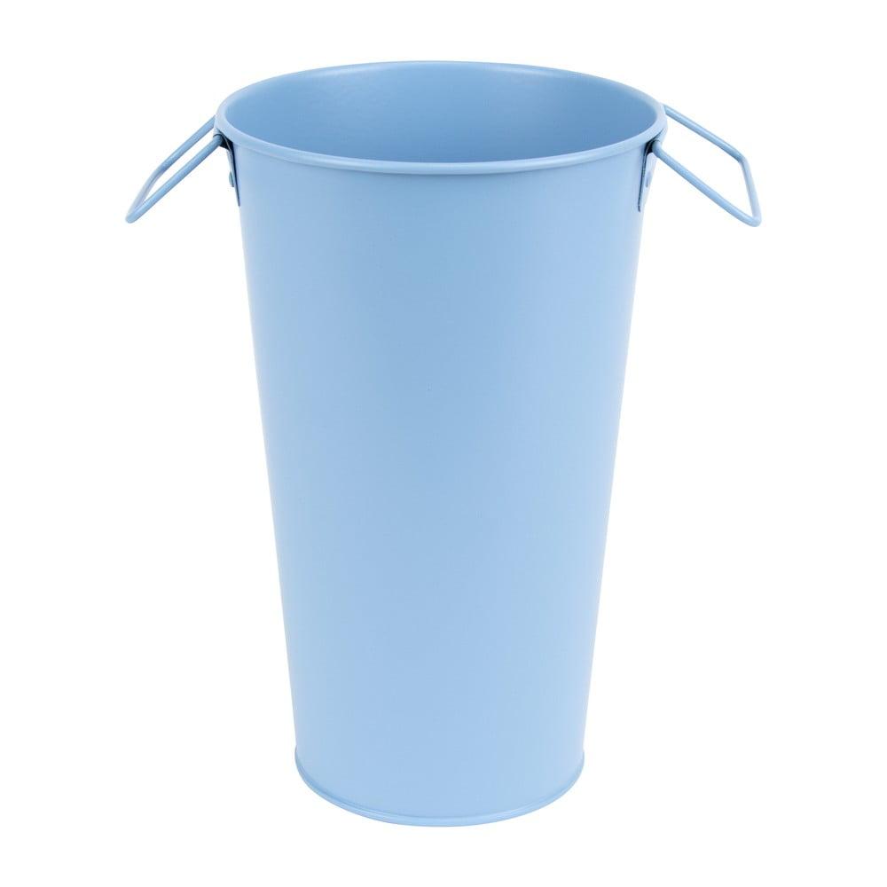 Modrá kovová zahradní váza Esschert Design Gardener