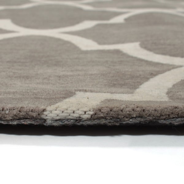 Bavlněný koberec Boho Grey/White, 120x180 cm
